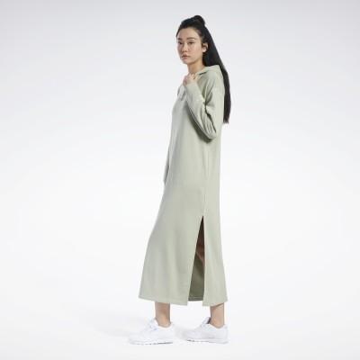 リーボック Reebok フューチャリスティック ロング ドレス / Futuristic Long Dress (グレー)