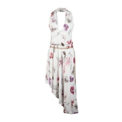 MANGANO ミニワンピース&ドレス ホワイト 40 100% ポリエステル ミニワンピース&ドレス