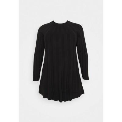カプセル バイ シンプリー ビー ワンピース レディース トップス SWING DRESS - Jumper dress - black