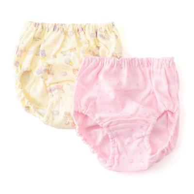 キッズ トドラー女児 星とユニコーン柄2枚組ショーツ ピンク 120cm