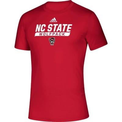 アディダス adidas メンズ Tシャツ トップス NC State Wolfpack Red Tail Sweep Performance T-Shirt