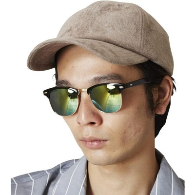 (メメントイズム) MEMENTISM ME-20 ミラーレンズサングラス 眼鏡 伊達眼鏡 だてメガネ ME-20 (FREE, イエロー)