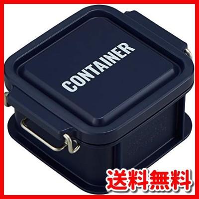 オーエスケー 弁当箱 ネイビー 容量:約300ml ランチチャイム コンテナ ランチボックス SS CNT-300