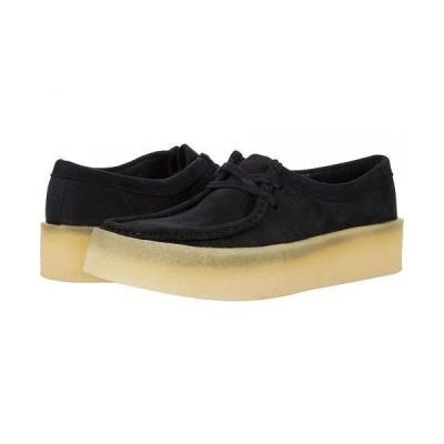 Clarks クラークス レディース 女性用 シューズ 靴 スニーカー 運動靴 Wallabee Cup - Black Nubuck