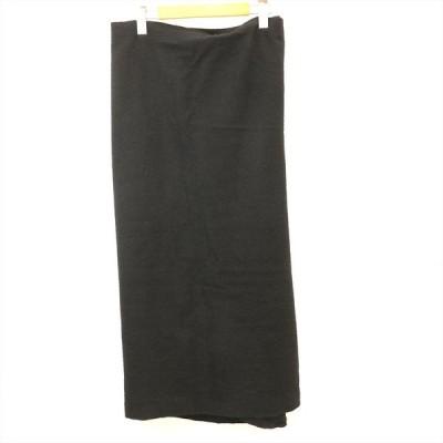 コムデギャルソン COMME des GAR?ONS 巻きスカート ロングスカート 毛100% ブラック Mサイズ レディース【kk】【中古】