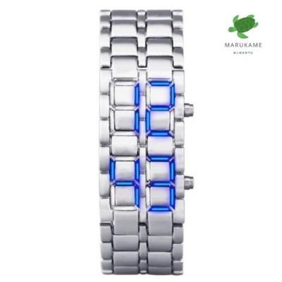 腕時計 Aidis スポーツ 防水 電子 第二世代のバイナリ デジタル メンズ 腕時計 合金 リスト ストラップ 時計 LED時計
