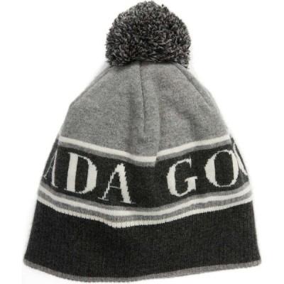 カナダグース CANADA GOOSE メンズ ニット ポンポン ビーニー 帽子 Pom Merino Wool Blend Beanie Heather Grey