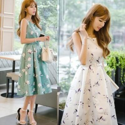 ドレス ワンピース ノースリーブ フェミニン きれいめ ad-0021