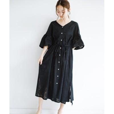 【ハコ】 京都の浴衣屋さんと作った浴衣生地の羽織りにもなるワンピース レディース ブラック M haco!