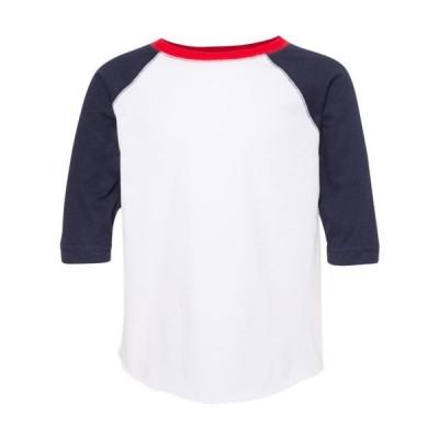 ベビー 衣類 トップス Toddler Baseball Fine Jersey Three-Quarter Sleeve Tee Rabbit Skins グラフィックティー