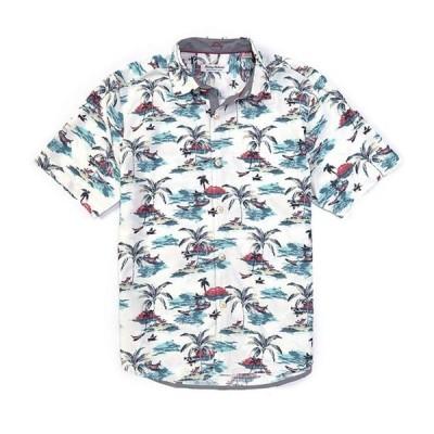 トッミーバハマ メンズ シャツ トップス IslandZone Coconut Point Sunset At Sea Short-Sleeve Woven Shirt