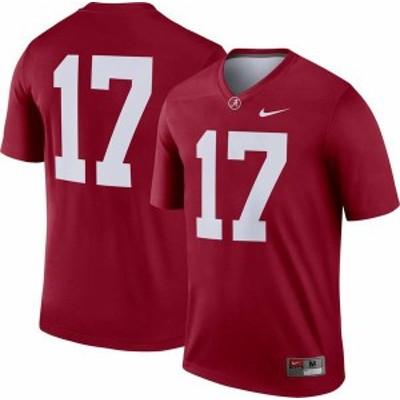 ナイキ メンズ シャツ トップス Nike Men's Alabama Crimson Tide #17 Crimson Dri-FIT Legend Football Jersey