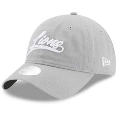 ニューエラ レディース 帽子 アクセサリー Detroit Lions New Era Women's Tail Sweep 9TWENTY Adjustable Hat Gray