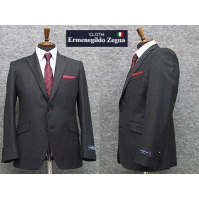 秋冬物 [Ermenegildo Zegna] ゼニア生地 Heritage使用 スタイリッシュ2釦スーツ [YA体][AB体] 濃鼠縞 ロゴ入り裏地 EZS33