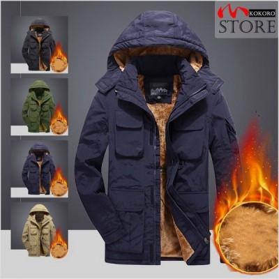ミリタリージャケット メンズ 裏起毛 アウター ブルゾン 防寒着 冬服 秋冬 厚手 アウトドア あったか 40代 50代