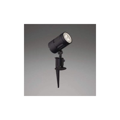 XU44318L コイズミ照明 LED防雨型スポット 本体:アルミダイカスト・黒色塗装前面ガラス:強化ガラス・透明スパイク:アルミダイカスト・黒色塗装