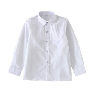 Moli&Hani 子供 スーツ フォーマル シャツ ワイシャツ Yシャツ 長袖 男の子 女の子 男女兼用 キッズ 七五三 入学式