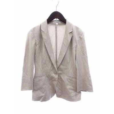 【中古】ナラカミーチェ NARA CAMICIE テーラードジャケット 七分袖 1 ベージュ /AU レディース