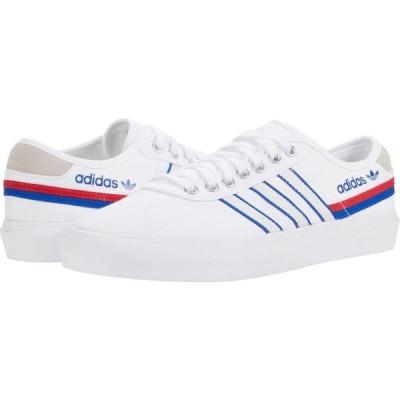 アディダス adidas Skateboarding メンズ シューズ・靴 Delpala White/Scarlet/Team Royal Blue