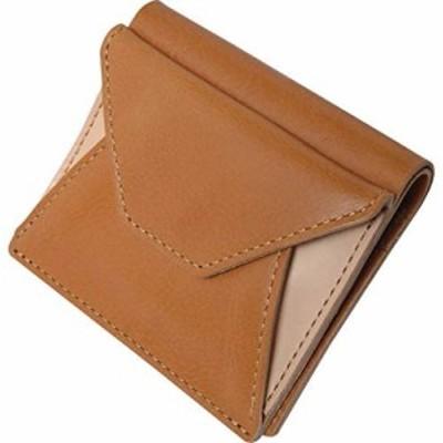 ヌメ革 二つ折り財布 キャメル OJ-1004