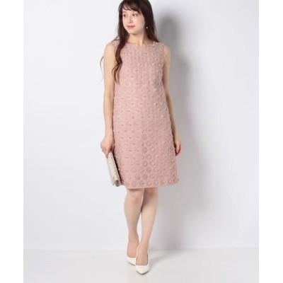 MISS J/ミス ジェイ フラワーカットジャカードドレス ピンク 38