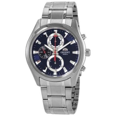 オリエント 腕時計 Orient クロノグラフ クォーツ Blue Dial メンズ Watch FUY07001D0