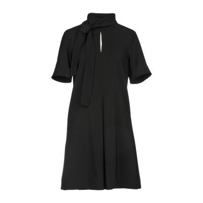 マニラ グレース MANILA GRACE ミニワンピース&ドレス ブラック 38 90% ポリエステル 10% ポリウレタン ミニワンピース&ドレス