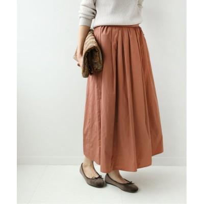 【ジャーナルスタンダード】 メモリーツイル ギャザースカート◆ レディース ピンク 38 JOURNAL STANDARD