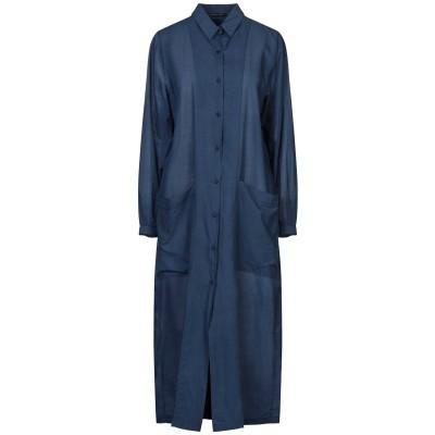 BARBARA TANI 7分丈ワンピース・ドレス ブルー 38 コットン 100% 7分丈ワンピース・ドレス