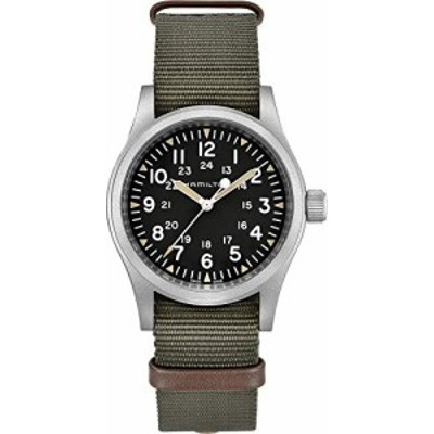 腕時計 ハミルトン メンズ Hamilton Unisex Khaki Field Mechanical - H69429931 Black/Green One Size
