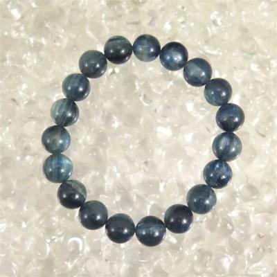 カイヤナイト 藍晶石 4A+グレード 10.5mm玉ブレスレット 43.6g 【榎本通商82791】