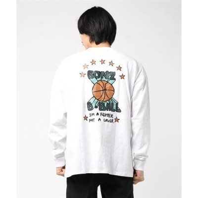 tシャツ Tシャツ Mark Gonzales/マークゴンザレス  プリントL/S BIG TEE