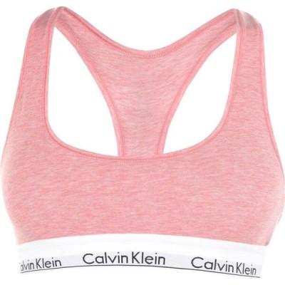 カルバンクライン Calvin Klein レディース ブラレット インナー・下着 Modern Cotton Logo Bralette Pomelo Hthr FPQ