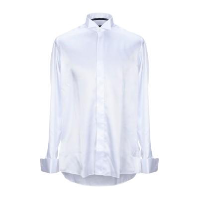 UNGARO シャツ ホワイト 41 ポリエステル 100% シャツ