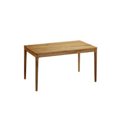 家具 収納 テーブル 机 ダイニングテーブル オーク無垢材ダイニングテーブル 幅130cm Luomu/ルオム H86007