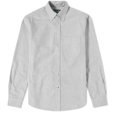 ギットマンヴィンテージ Gitman Vintage メンズ シャツ トップス Button Down Oxford Shirt Grey