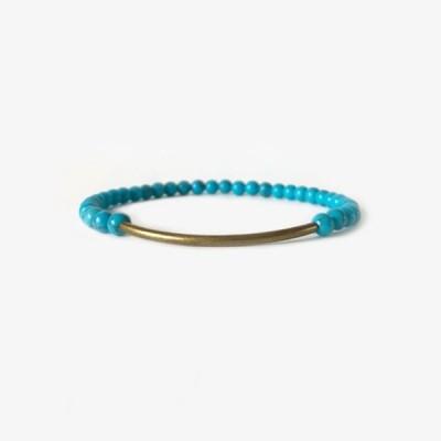 ブランコ チューブラーブレスレット ブラス ブルーハウライト BRANCO Tubular Brass BLUE HOWLITE