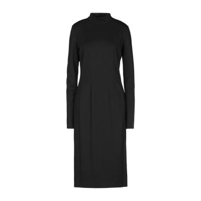 アトス ロンバルディーニ ATOS LOMBARDINI 7分丈ワンピース・ドレス ブラック 46 レーヨン 63% / ポリエステル 33% /