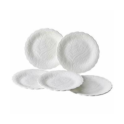 NARUMI(ナルミ) プレート 皿 セット ホニトン・レース ホワイト 17cm 5枚セット 電子レンジ温め 食洗機対応 51952-23