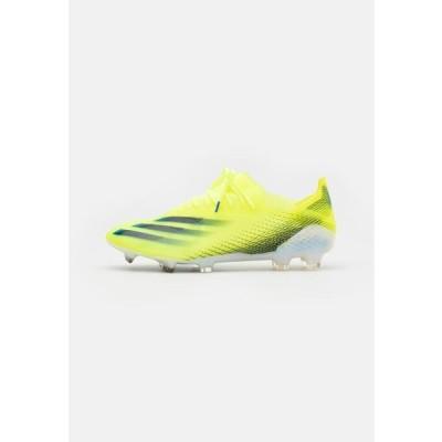アディダス メンズ スポーツ用品 X GHOSTED.1 FG - Moulded stud football boots - solar yellow/core black/royal blue