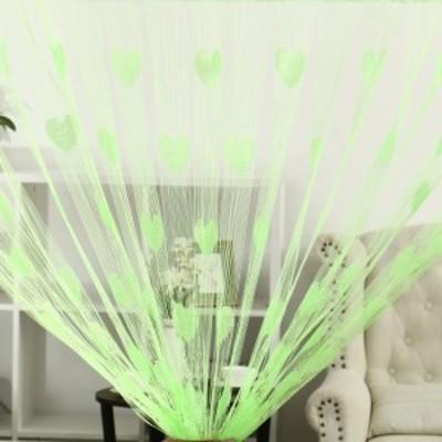 uxcell ストリング バックドロップ ベッドルーム 100x200cm Light グリーン