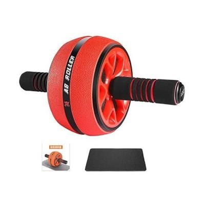 AIRIVO 腹筋ローラー アブホイール エクササイズローラー 筋トレグッズ ダイエット器具 腹筋トレ スリムトレーナー 超静音 1cm膝マット付き