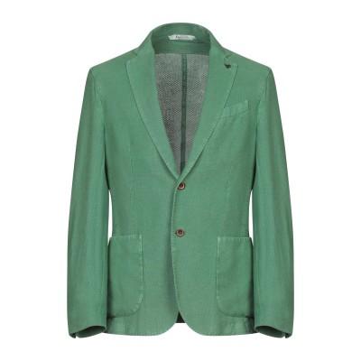 BOTTEGA MARTINESE テーラードジャケット グリーン 48 麻 50% / コットン 50% テーラードジャケット