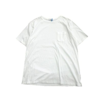 【中古】ミノトール MINOTAUR クルーネック Tシャツ カットソー 胸ポケット 無地 半袖 M 白 ホワイト メンズ メンズ 【ベクトル 古着】