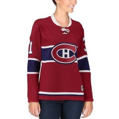 リーボック レディース Tシャツ トップス Carey Price Montreal Canadiens Reebok Women's Premier Player Jersey Red