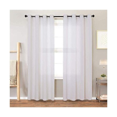 jinchan Linen Texured Curtains for Living Room Moderate Light Filtering Win
