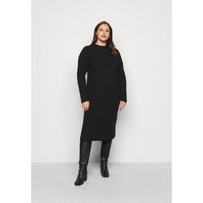 ピーシーズ カーブ ワンピース レディース トップス PCDISA MOCK NECK DRESS CURVE - Jumper dress - black