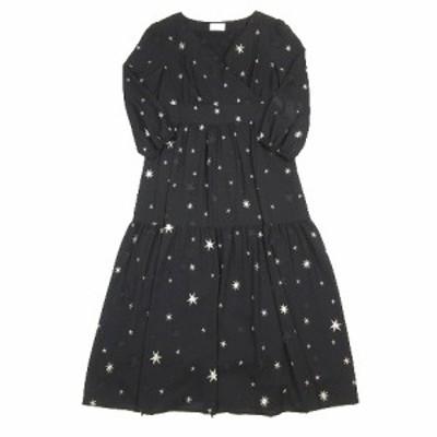 【中古】ダイアグラム グレースコンチネンタル Diagram GRACE CONTINENTAL 美品 21SS スター 3D 刺繍 ドレス