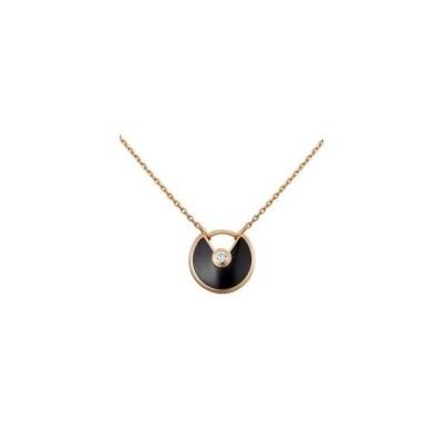 カルティエ ネックレス 新品 アミュレット ドゥ カルティエ ネックレス XS ピンクゴールド オニキス ダイヤモンド