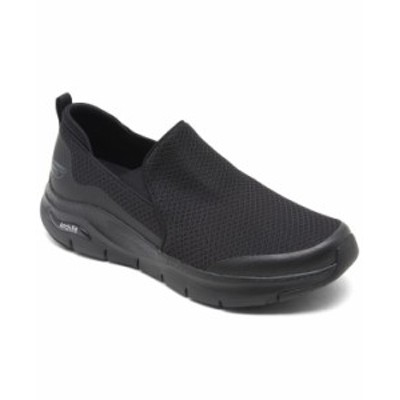 スケッチャーズ メンズ スリッポン・ローファー シューズ Men's Arch Fit - Banlin Slip-On Walking Sneakers from Finish Line Black